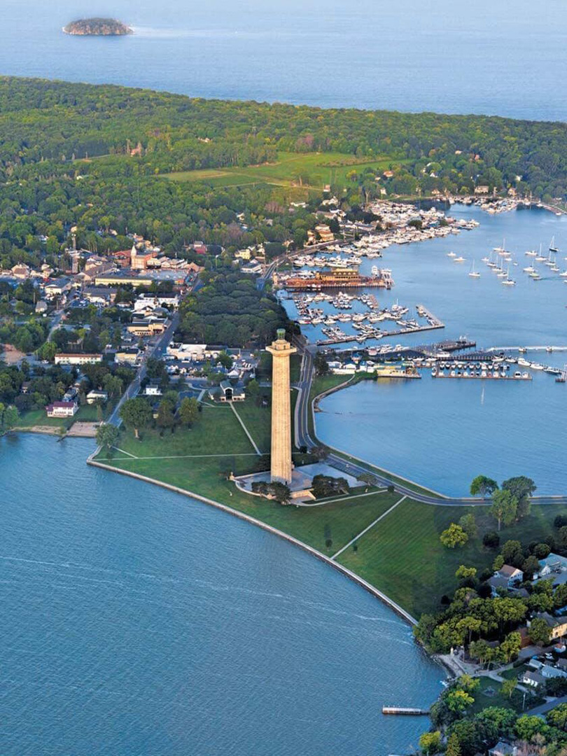 Put-in-Bay Aerial, Lake Erie Shores, OH
