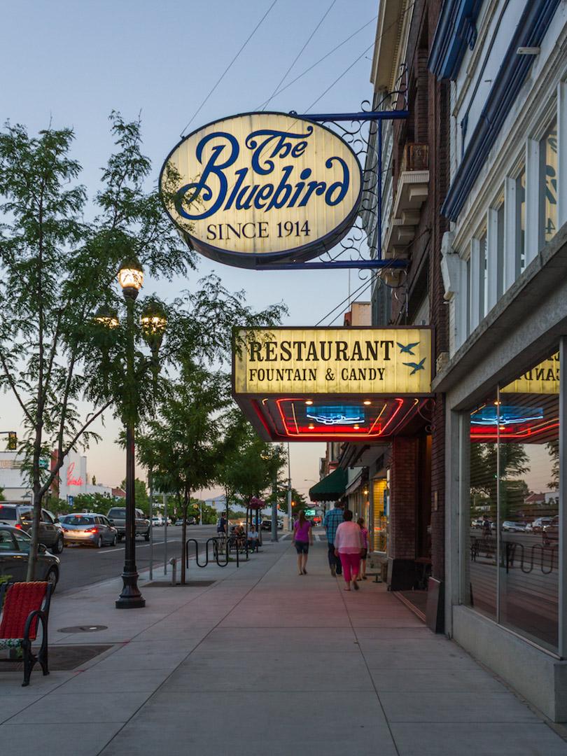 Bluebird Restaurant - downtown Logan, Utah