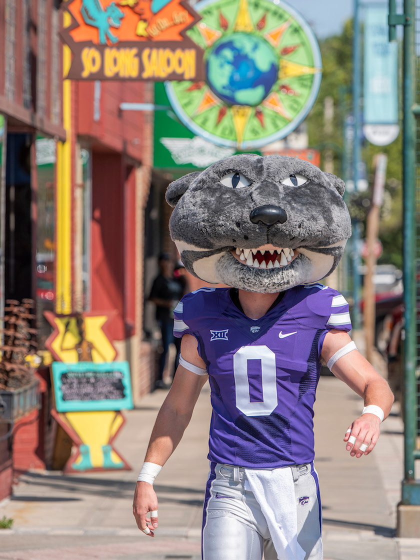 Willie the Wildcat in Aggieville, Manhattan, KS