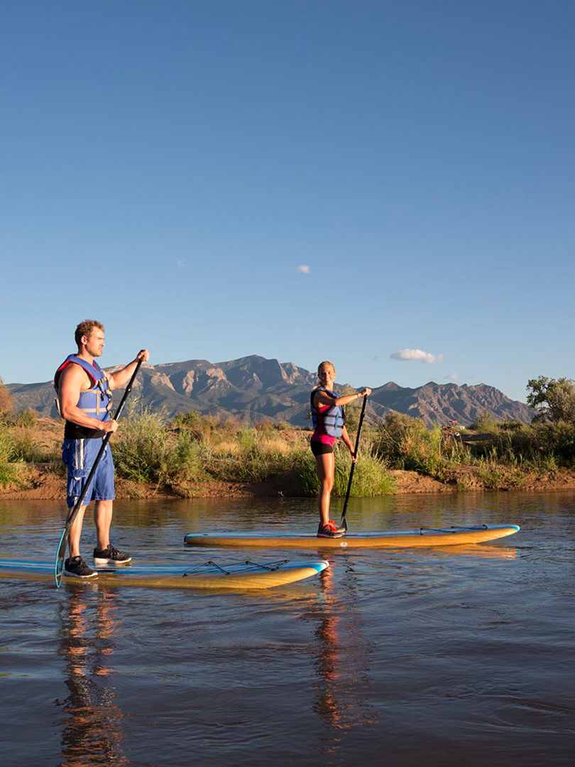 Paddle Boarding, Rio Grande River, NM