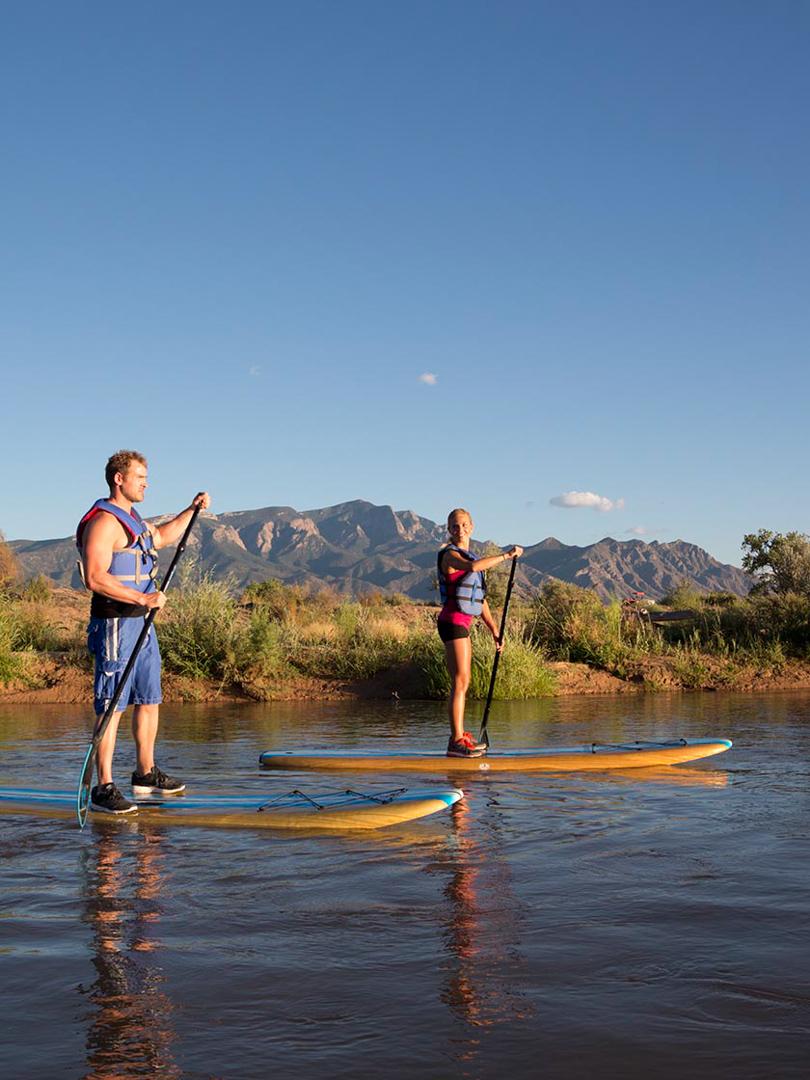 Paddle Boarding, Rio Grande River, NM