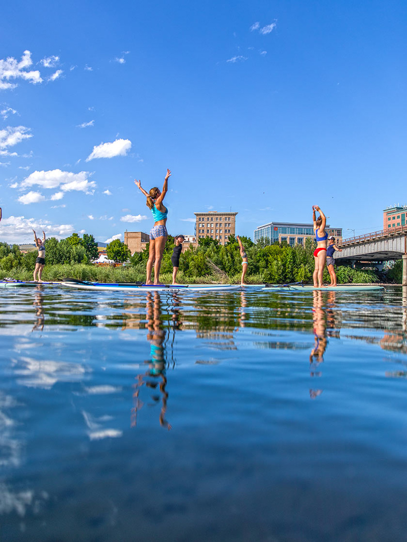 Paddle Boarding, Clark Fork River in downtown Missoula, Montana