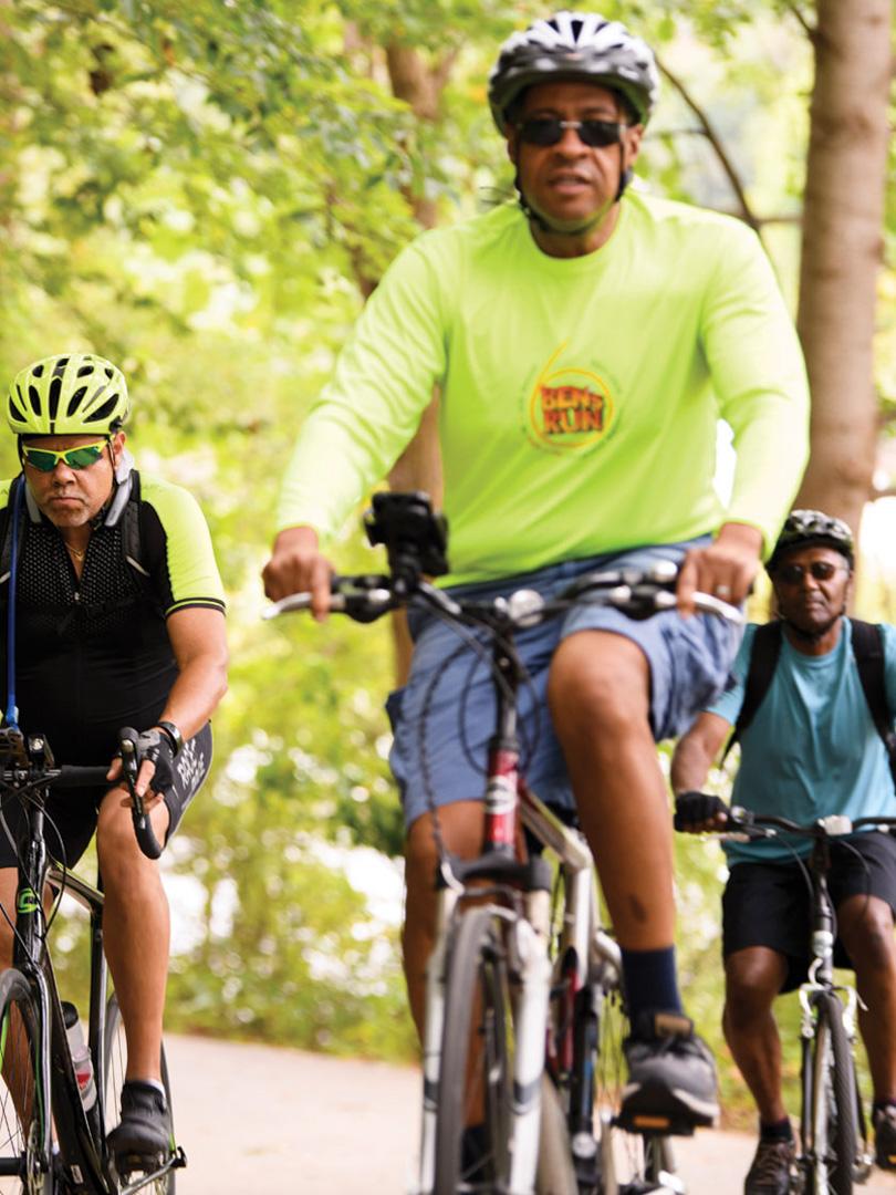 Biking at Centennial Park, Maryland