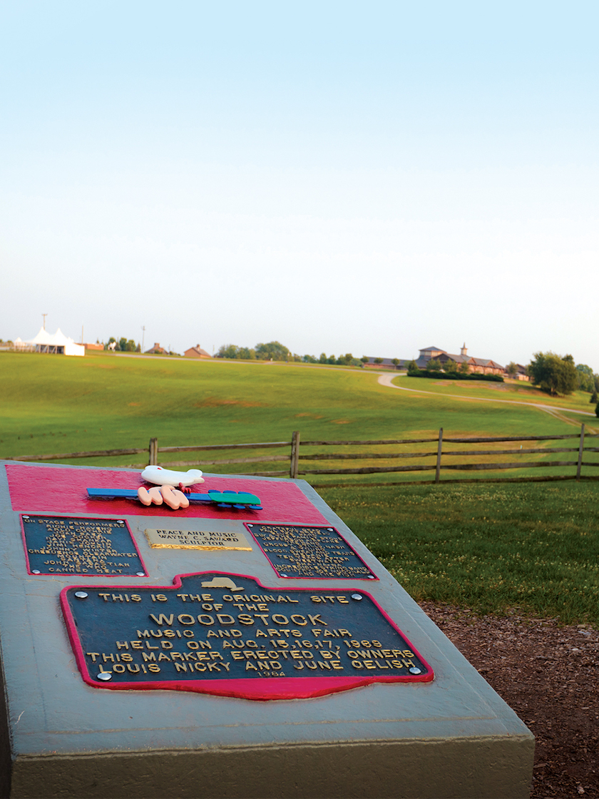 The Original Site of the 1969 Woodstock festival at Bethel Woods Center for the Arts