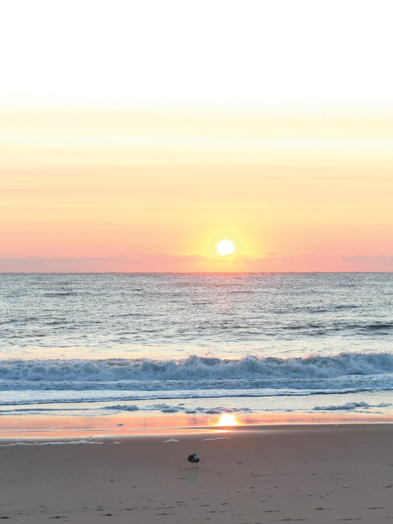 Rehoboth Beach and Dewey Beach Delaware, beach sunset