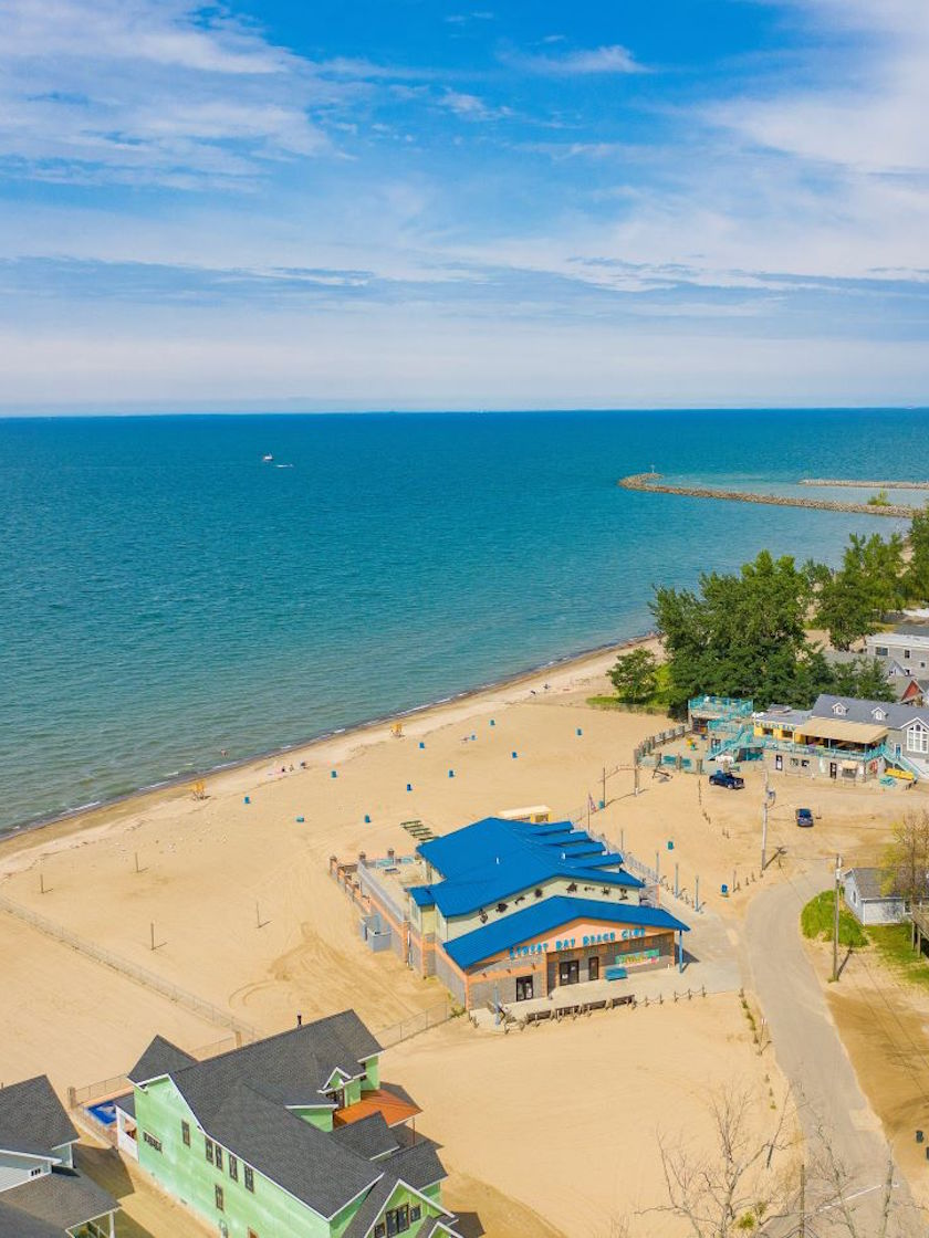 Aerial View - Lake Erie, Chautauqua County, NY