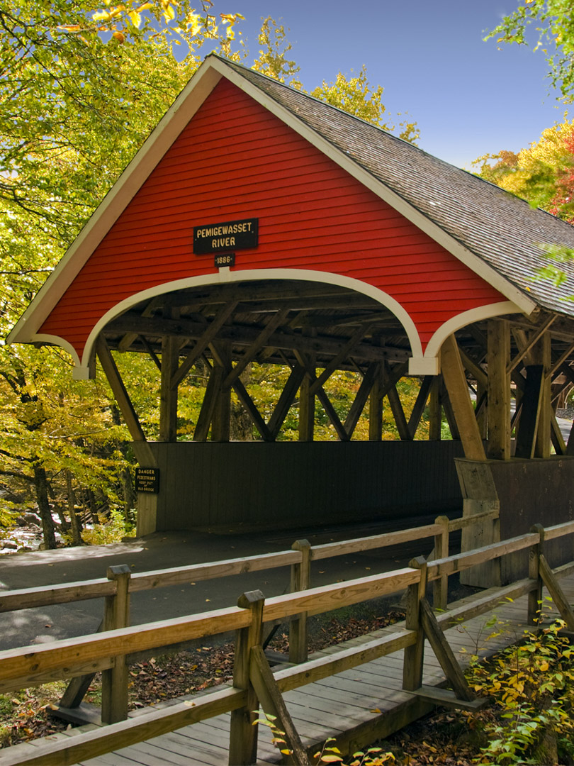 Covered Bridge at Flume Gorge, Lincoln, NH