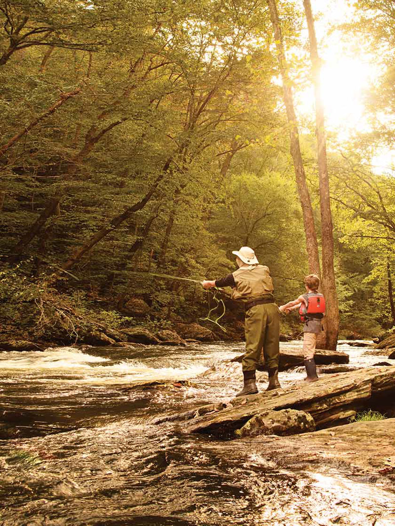 Fly-fishing at Gunpowder Falls State Park, MD