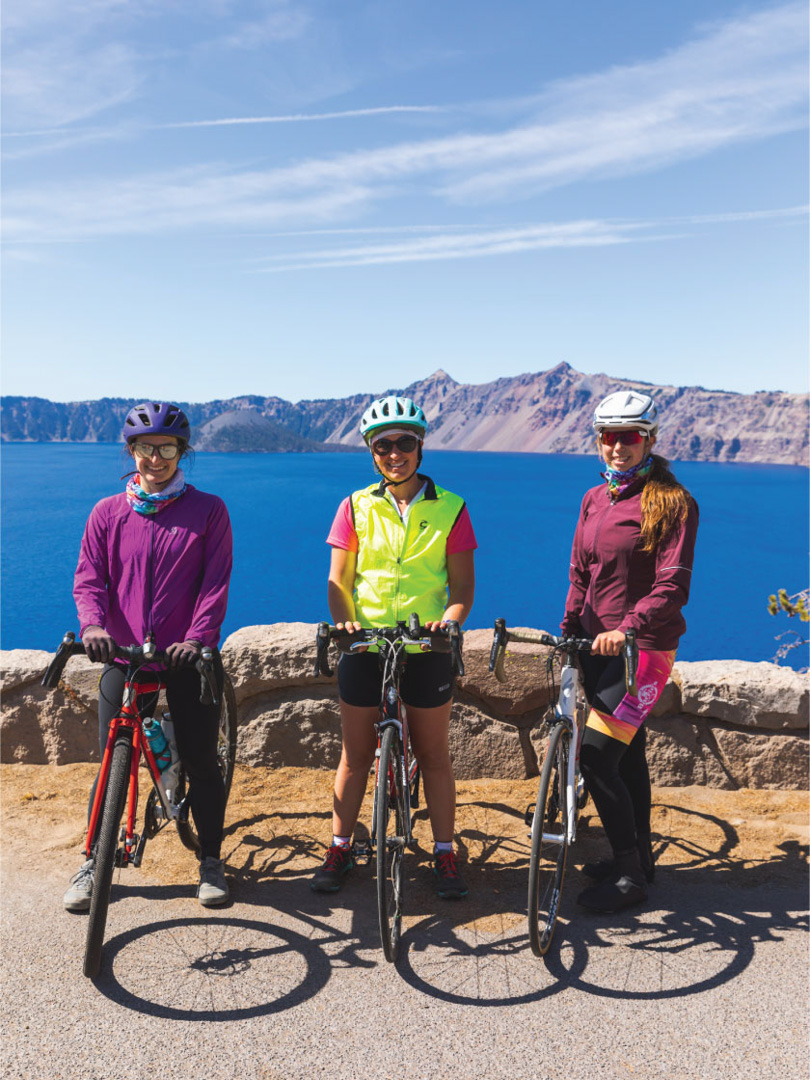 Cycling -  Crater Lake National Park, Oregon