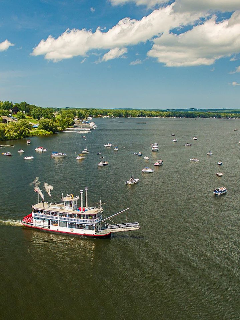 Aerial View - Chautauqua Lake, Chautauqua County, NY -