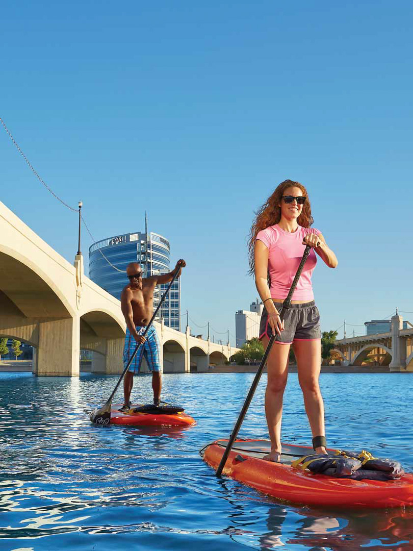 Paddle Boarding, Tempe Town Lake, AZ