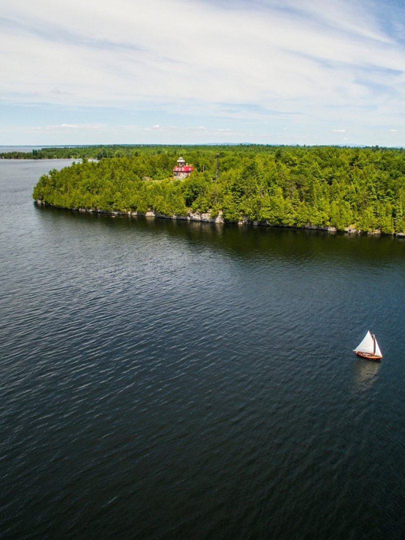 Valcour Island and Bluff Point Lighthouse, Lake Champlain, NY